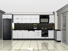Deco Home Mutfak Dolabı Modern Tavan Boyu Beyaz