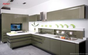 Deco Home Mutfak Dolabı Mat Yeşil
