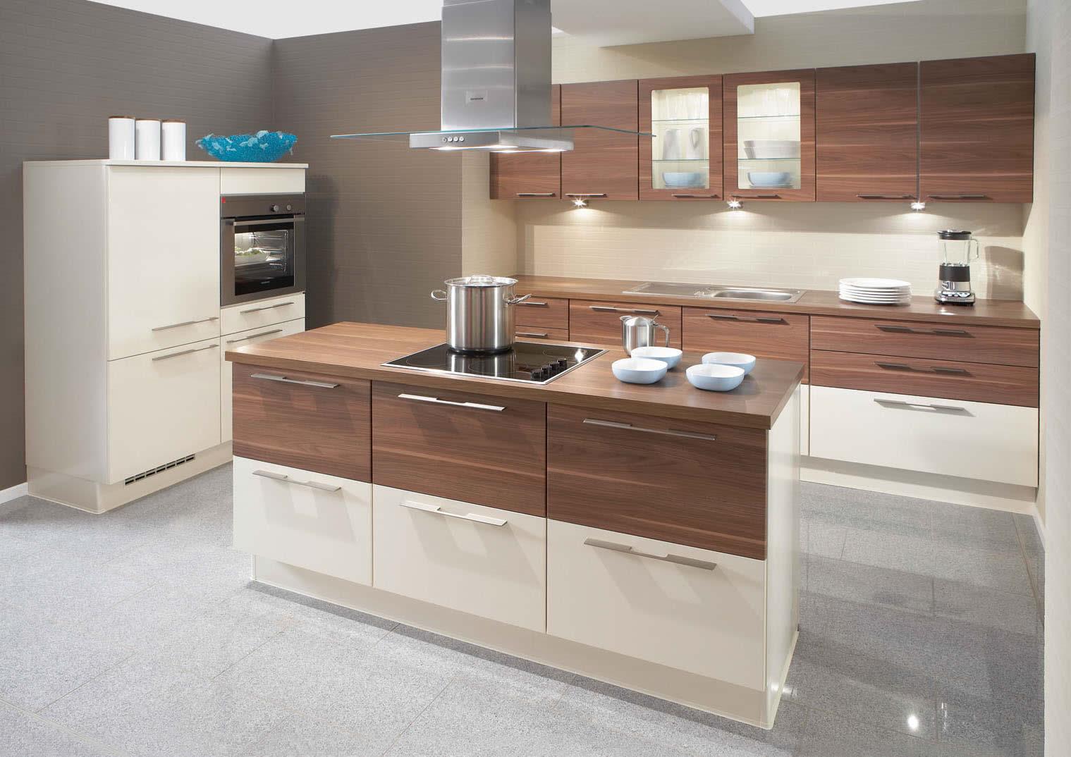 Deco Home Mutfak Dolabı Modern Kulpsuz Sade Parlak Beyaz Açık Meşe