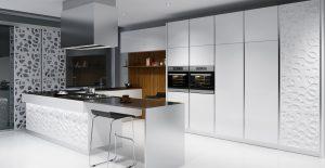 Deco Home Mutfak Dolabı Modern Kulpsuz Sade Parlak Beyaz