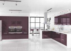 Deco Home Mutfak Dolabı Modern Retro Koyu Vişne